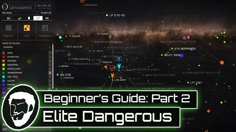A Beginner's Guide to Elite Dangerous - Part 2 - Galaxy Map Tutorial