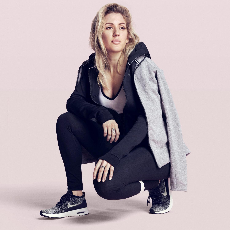Hailey Baldwin wears Nike Air Max Thea Premium in Desert