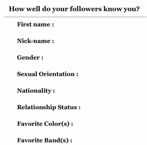 How well do your followers know you