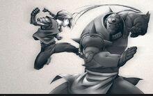 Raymond entrena sus artes marciales