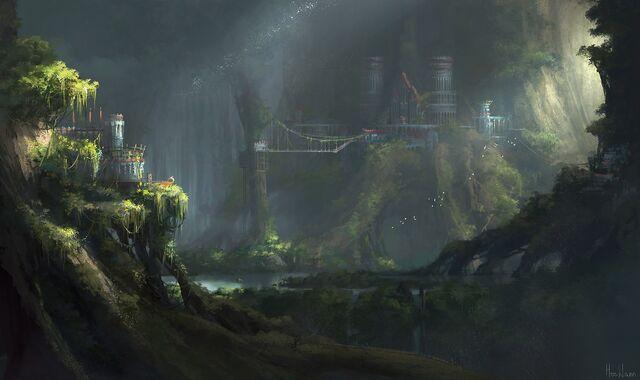 File:1400x832 10405 Castle on tree 2d fantasy landscape environment concept art picture image digital art.jpg
