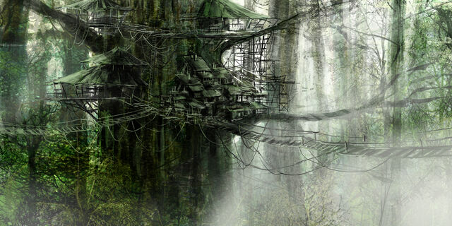 File:1800x900 460 Tree house 2d fantasy architecture village picture image digital art.jpg