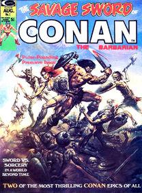 The Savage Sword of Conan The Barbarian nº1