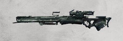 1276x432 11534 Rail sniper rifle 2d sci fi gun weapon rifle concept art picture image digital art