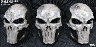 Bone skull punisher ballistic mask by michaelloh-d4tkasc