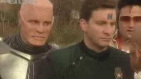 Elvis introduces Rimmer to his batallion - Red Dwarf - BBC comedy
