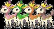 Deerling forms