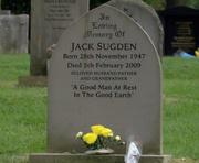 Jack Sugden's gravestone