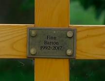 Finn Barton's grave