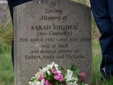 Sarah Sugden's grave