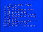 ITV return schedule