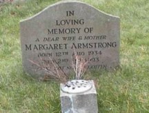 Meg Armstrong gravestone