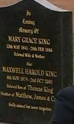 EMMERDALE MARY KING GRAVE