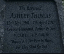 Ashley Thomas gravestone