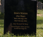 Dawn Woods' grave