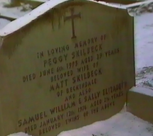 Peggy, Samuel and Sally Skilbeck gravestone
