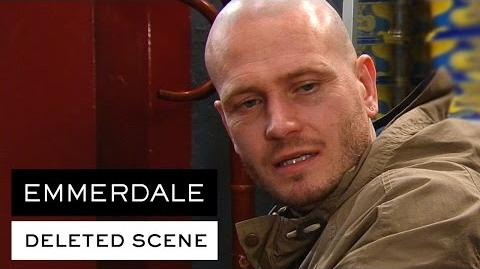 Emmerdale Deleted Scene - David adjusts to his shaved look