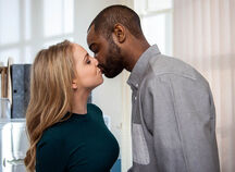 Belle and Jermaine kiss