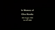 CLIVE HORNBY TRIBUTE MESSAGE