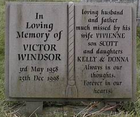 Vic Windsor's gravestone