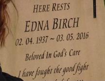 Edna Birch's gravestone