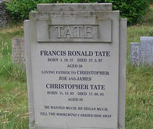 Chris and Frank Tate's gravestone