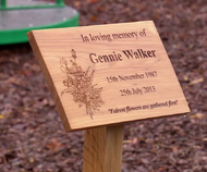 Gennie memorial plaque