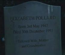 Elizabeth Pollard gravestone