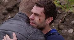 Andy says goodbye to Robert