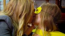 Charity kisses Vanessa