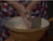 Emmie annie baking bread feb 1988