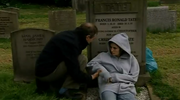 Emmie holly on franks grave