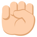File:Oobi Grampu Hand Raised Fist Emoji - Emoji One.png