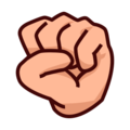 File:Oobi Grampu Hand Raised Fist Emoji - Emojidex.png