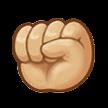 Oobi Grampu Hand Raised Fist Emoji - Samsung