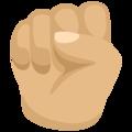 Oobi Grampu Hand Raised Fist Emoji - Facebook