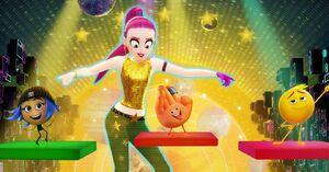 Emoji movie Akiko Glitter poster