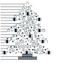 Christmas Tree Punctuation Art Emoticon Wiki