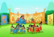 Chipmunk Cheer Off