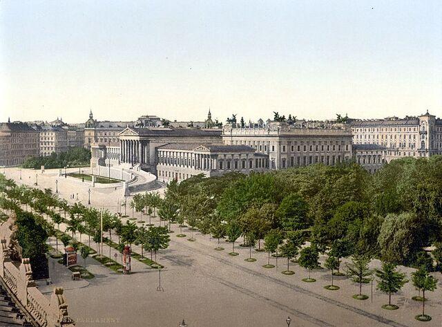 File:Wien Parlament um 1900.jpg