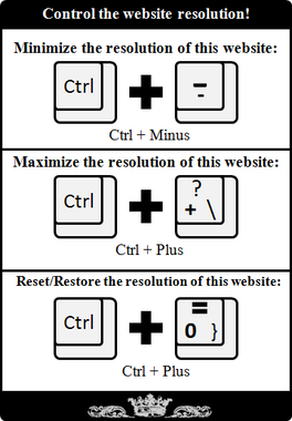Control the website resolution!