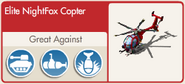 Elite NightFox Copter screen