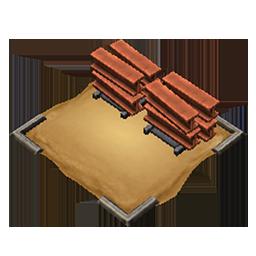 Mobile steelstockpile