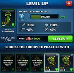 Troops Level Up