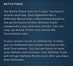 Battle Phase (Raid Tournament)