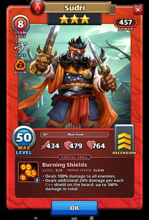 Sudri hero card