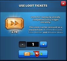 Use Loot Tickets Dialog