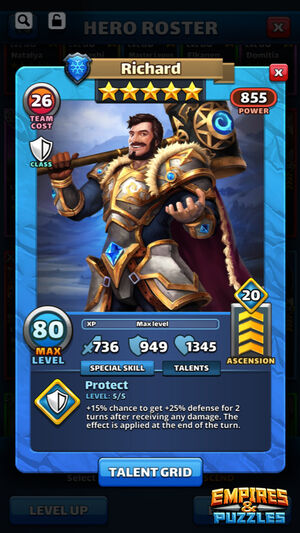 Hero Class Sample Hero Card