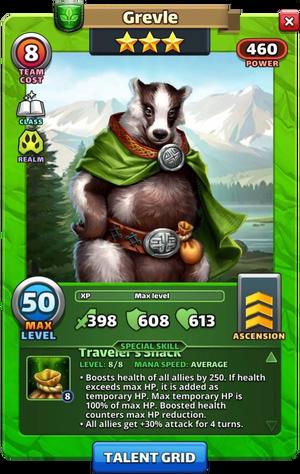 Grevle hero card
