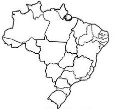 Brazil simple map